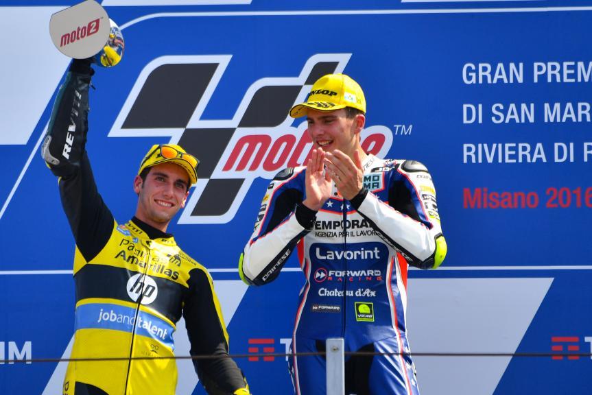 Alex Rins, Paginas Amarillas HP 40 and Lorenzo Baldassarri, Forward Team, Gran Premio TIM di San Marino e della Riviera di Rimini