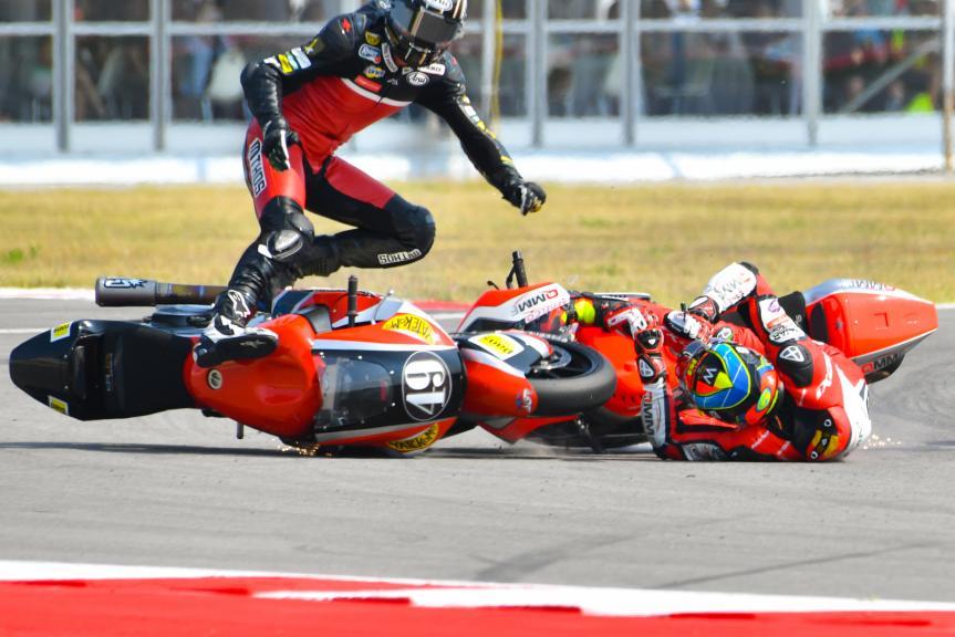 Axel Pons, AGR Team and Xavier Simeon, QMMF Racing Team, Gran Premio TIM di San Marino e della Riviera di Rimini