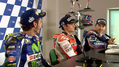 Rossi & Lorenzo diskutieren über Manöver