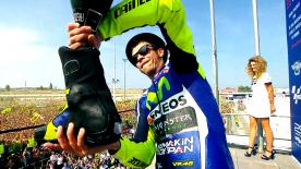 9-time world champion back on the rostrum on the Riviera di Rimini