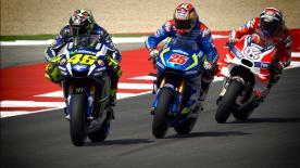 Detalles a cámara lenta filmados durante la carrera.