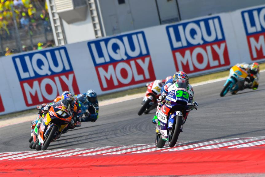 Enea Bastianini, Gresini Racing Moto3 and Brad Binder, Red Bull KTM Ajo, Gran Premio TIM di San Marino e della Riviera di Rimini