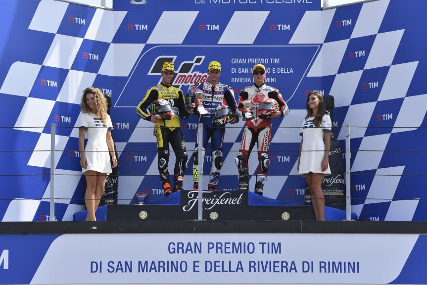 Lorenzo Baldassarri, Alex Rins, Takaaki Nakagami, Gran Premio TIM di San Marino e della Riviera di Rimini