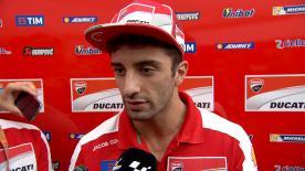 Il pilota del Ducati Team salterà la gara al MotorLand, troppo critiche le condizioni fisiche dopo la prima sessione di libere.