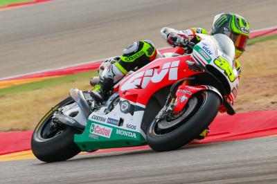 Crutchlow aims to improve on corner entry