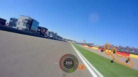 Relive Marquez's pole setting lap at the MotorLand Aragon, complete with telemetry data.