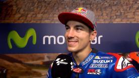 Il pilota del team Suzuki Ecstar è secondo sulla griglia di partenza al GP d'Aragona.