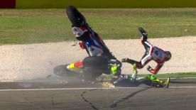 Watch all of the crash action from the Aragon MotoGP™ FP3 session in one place!