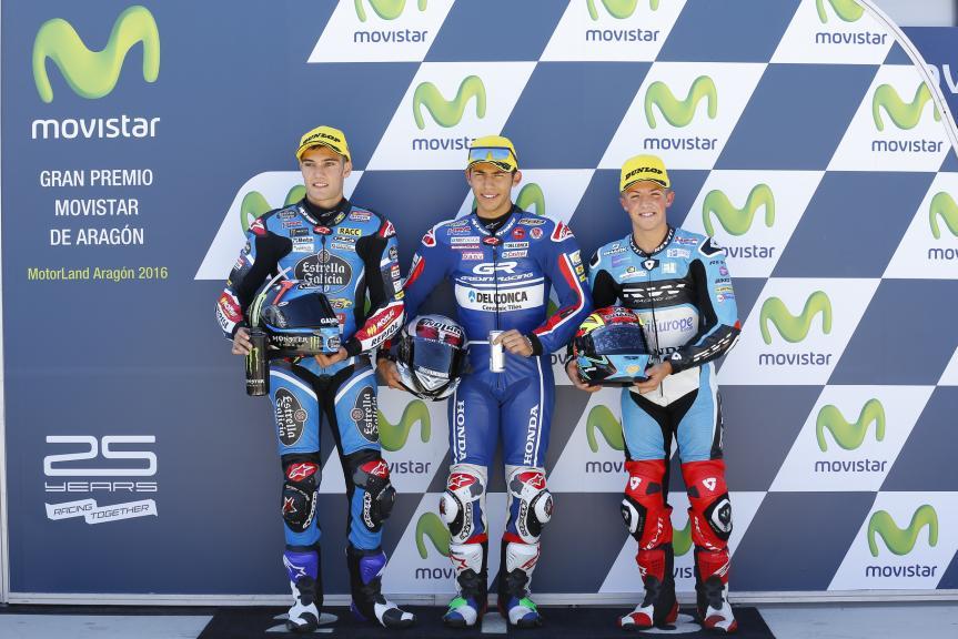 Enea Bastianini, Jorge Navarro, Livio Loi, Gran Premio Movistar de Aragón
