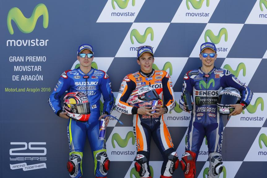 Marc Marquez, Maverick Viñales, Jorge Lorenzo, Gran Premio Movistar de Aragón