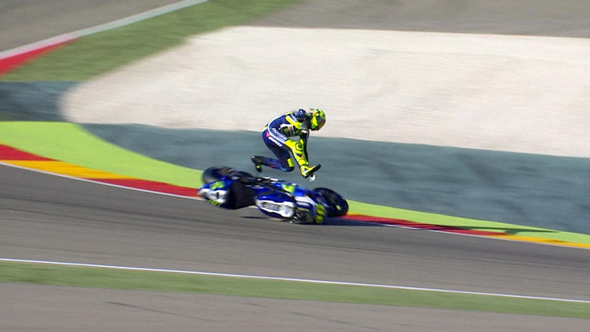 Watch Rossi's nasty highside crash!
