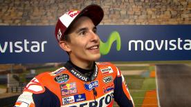Despite a big scare on lap 3, the Repsol Honda rider recovered & went on to take a dominant victory in Aragon.