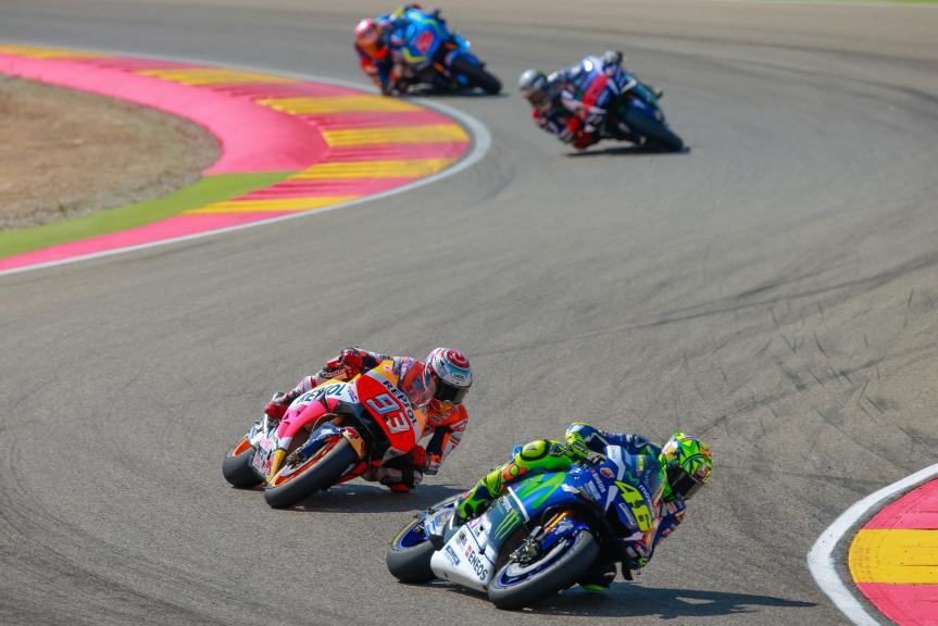Valentino Rossi, Marc Marquez, Gran Premio Movistar de Aragón