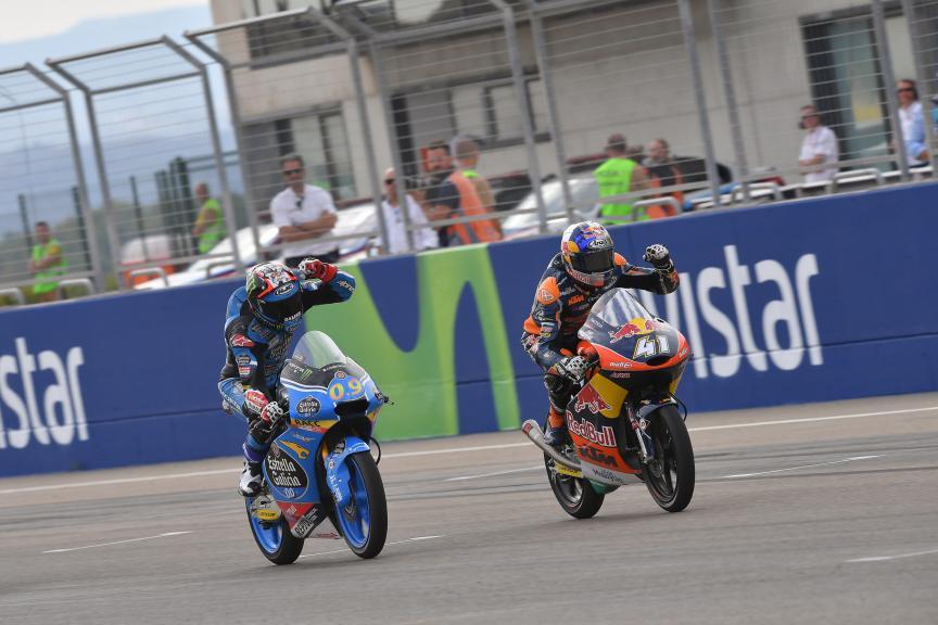Jorge Navarro, Estrella Galicia 0,0 and Brad Binder, Red Bull KTM Ajo, Gran Premio Movistar de Aragón