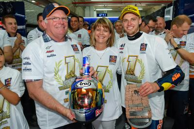 Binder's family react to title victory
