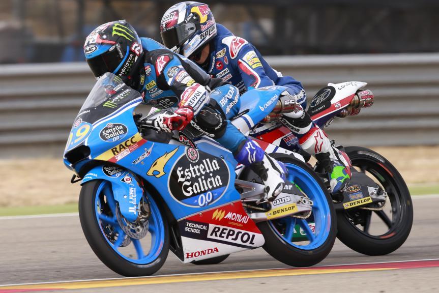 Jorge Navarro, Estrella Galicia 0,0, and  Enea Bastianini, Gresini Racing Moto3, Gran Premio Movistar de Aragón