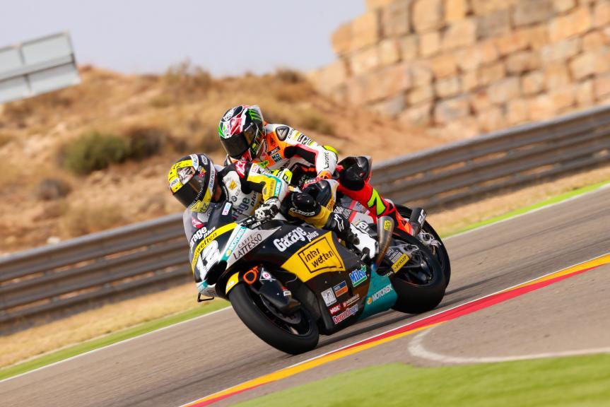 Thomas Luthi, Garage Plus Interwetten and Lorenzo Baldassarri, Forward Team, Gran Premio Movistar de Aragón