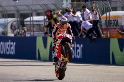 Marquez reigns in MotorLand as the shark bites back