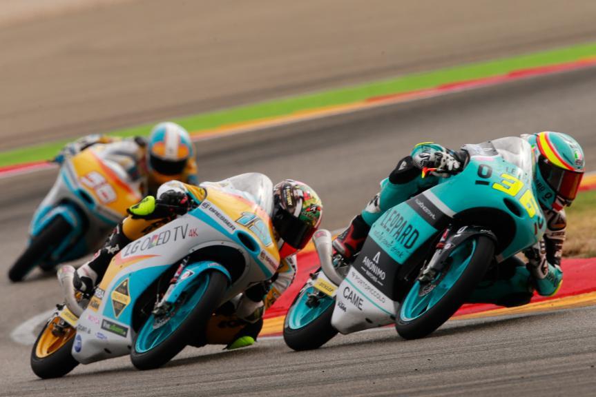 Joan Mir, Leopard Racing and Gabriel Rodrigo, RBA Racing Team, Gran Premio Movistar de Aragón