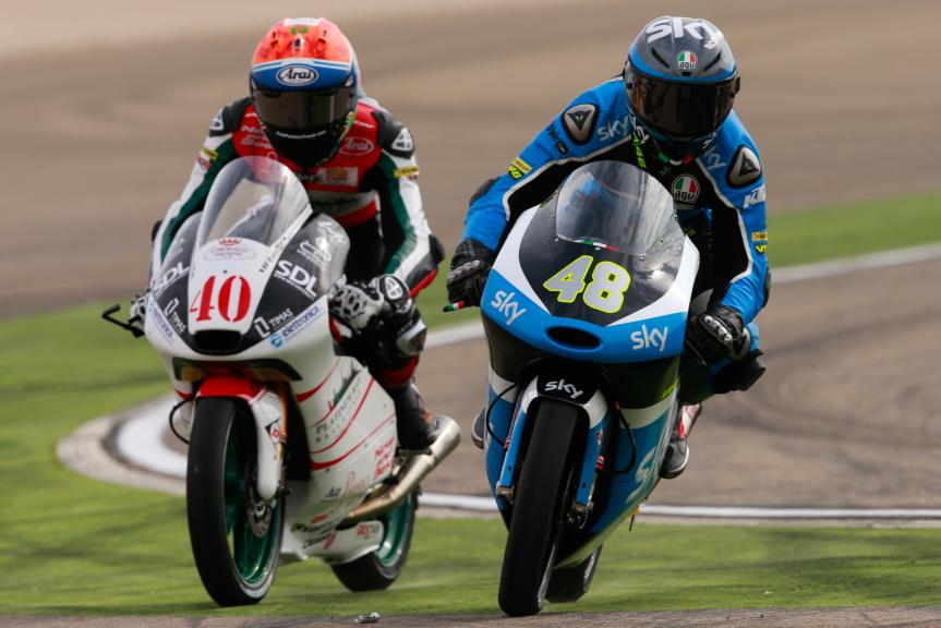 Lorenzo Dalla Porta, SKY Racing Team VR46 and Darryn Binder, Platinum Bay Real Estate, Gran Premio Movistar de Aragón