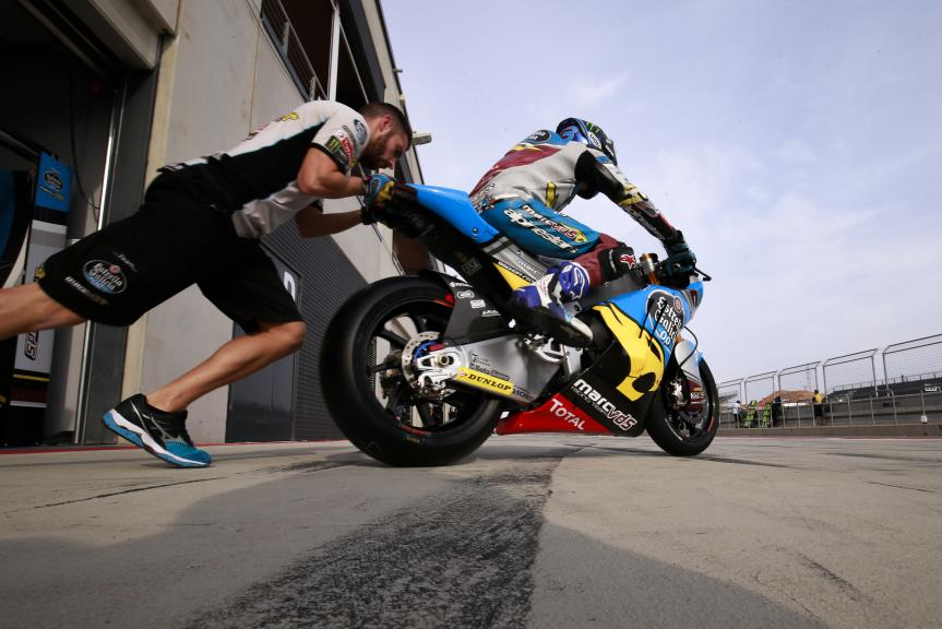 Alex Marquez, Test at the Motorland, Aragon for Moto2 and Moto3