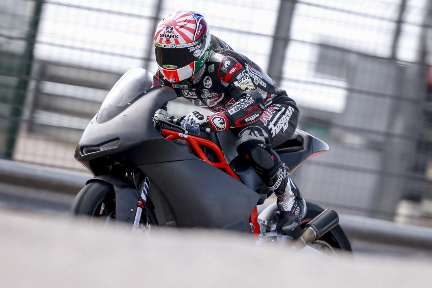 Johan Zarco, Test at the Motorland, Aragon for Moto2 and Moto3