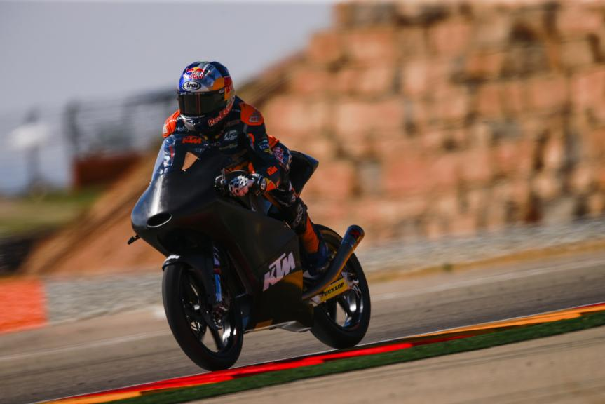 Brad Binder, Test at the Motorland, Aragon for Moto2 and Moto3