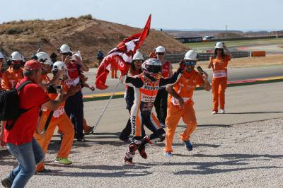 360 video: Marquez celebrates victory with his fan club