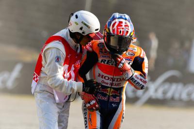Pedrosa bricht Schlüsselbein, Aoyama fährt in Motegi
