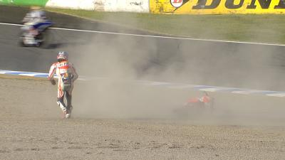 Agony for Pedrosa after breaking collarbone in crash