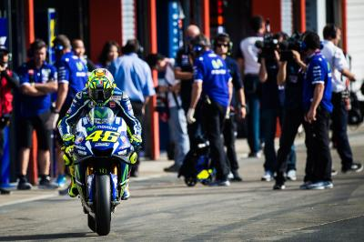 "Rossi: ""This afternoon was difficult"""