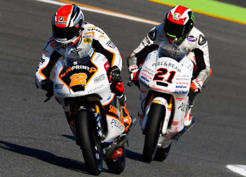 Albert Arenas, Peugeot MC Saxoprint and Francesco Bagnaia, ASPAR Mahindra Team Moto3, Motul Grand Prix of Japan