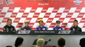 I piloti più veloci commentano i loro risultati nelle qualifiche al Twin Ring Motegi.