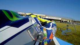 Relive Valentino Rossi's pole setting lap at the Twin Ring Motegi, complete with telemetry data.