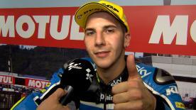 Andrea Migno partirà dalla pole nella gara a Motegi.