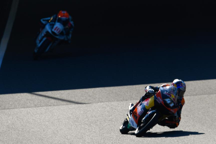 Brad Binder, Red Bull KTM Ajo and Darryn Binder, Platinum Bay Real Estate, Motul Grand Prix of Japan