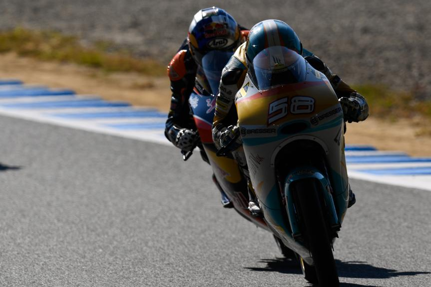 Juanfran Guevara, RBA Racing Team and Brad Binder, Red Bull KTM Ajo, Motul Grand Prix of Japan