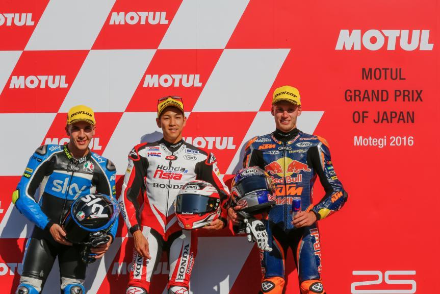 Hiroki Ono, Andrea Migno, Brad Binder, Motul Grand Prix of Japan