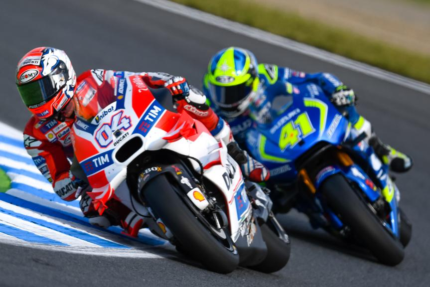 Andrea Dovizioso, Aleix Espargaro, Motul Grand Prix of Japan