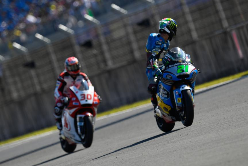 Franco Morbidelli, Estrella Galicia 0,0 Marc VDS and Takaaki Nakagami, IDEMITSU Honda Team Asia, Motul Grand Prix of Japan