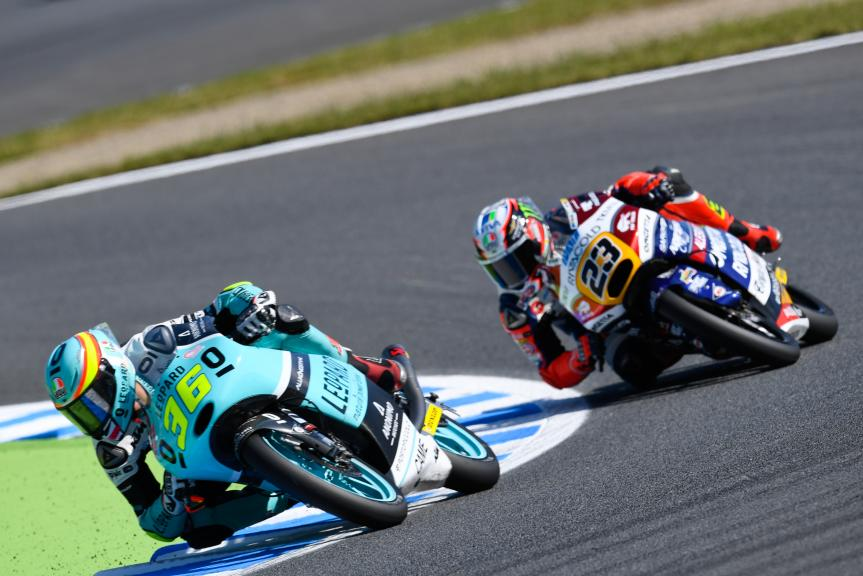Joan Mir, Leopard Racing and Niccolò Antonelli, Ongetta-Rivacold, Motul Grand Prix of Japan