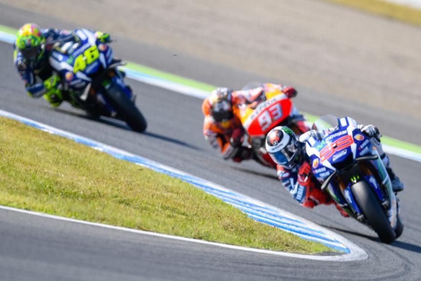 Valentino Rossi, Marc Marquez, Jorge Lorenzo, Motul Grand Prix of Japan