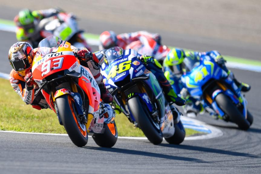 Valentino Rossi, Marc Marquez, Motul Grand Prix of Japan