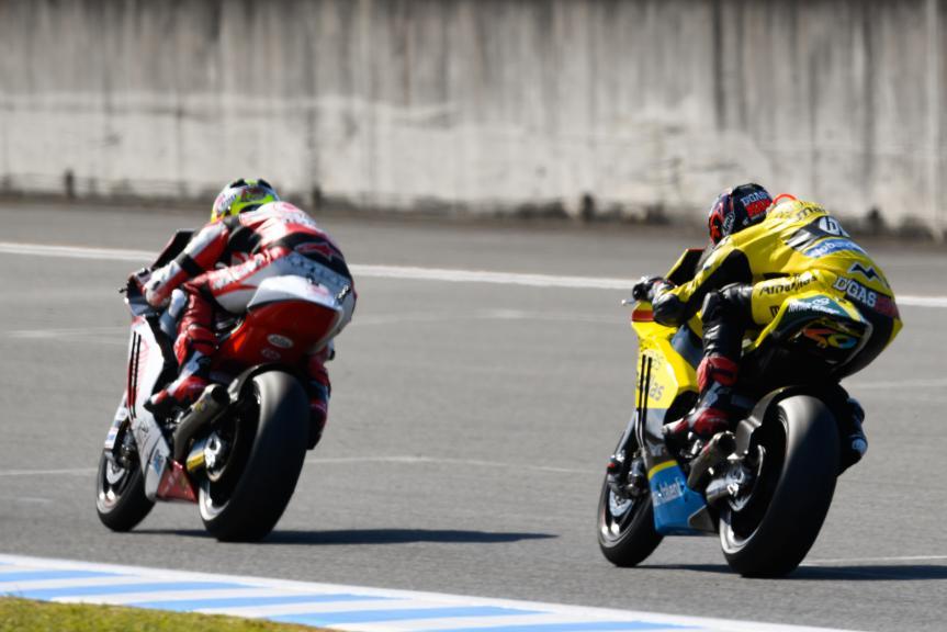 Edgar Pons, Paginas Amarillas HP 40 and Ratthapark Wilairot, IDEMITSU Honda Team Asia, Motul Grand Prix of Japan