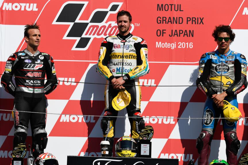 Johann Zarco, Franco Morbidelli and Thomas Luthi, Garage Plus Interwetten, Motul Grand Prix of Japan