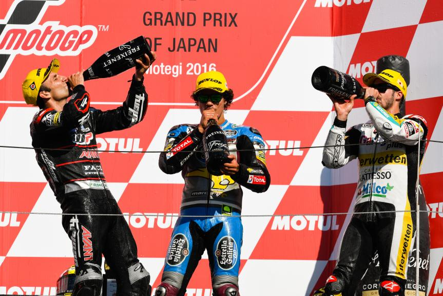 Johann Zarco, Franco Morbidelli and Thomas Luthi, Garage Plus Interwetten, Motul Grand Prix of Japan