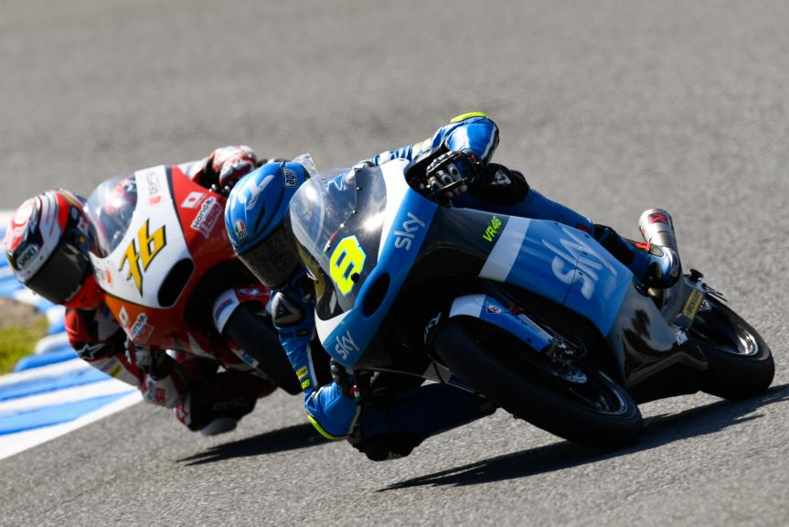 Nicolo Bulega, SKY Racing Team VR46 and Hiroki Ono, Honda Team Asia, Motul Grand Prix of Japan