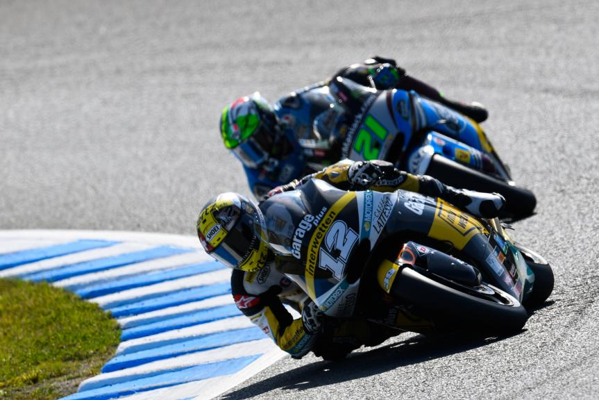 Franco Morbidelli, Estrella Galicia 0,0 Marc VDS and Thomas Luthi, Garage Plus Interwetten, Motul Grand Prix of Japan