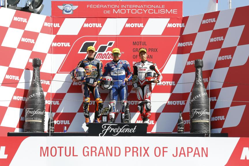 Enea Bastianini, Brad Binder, Hiroki Ono, Motul Grand Prix of Japan