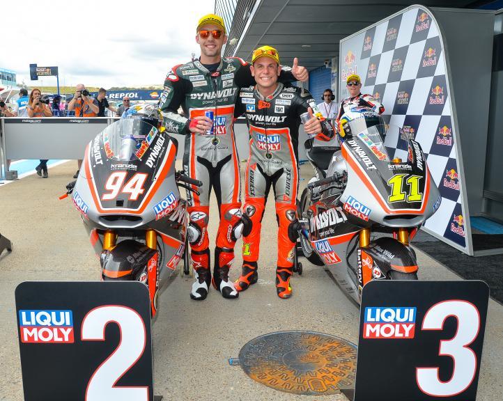 Sandro Cortese and Jonas Folger, Dynavolt Intact GP